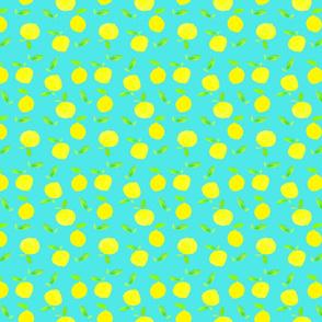 {lemons on turq}