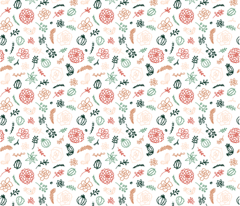 Cute Succulents fabric by lisalangenhop on Spoonflower - custom fabric