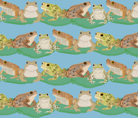 Toads on Lily Pads fabric by amy_hadden on Spoonflower - custom fabric