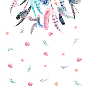 "56"" X 108"" PINK & AQUA DREAM CATCHER / 3 YARDS"