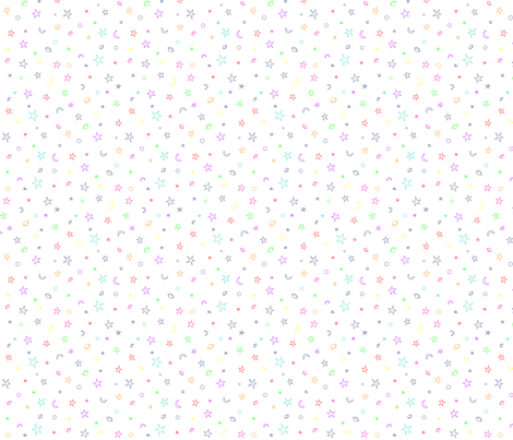 Ditsy Space Print - rainbow fabric by emeryallardsmith on Spoonflower - custom fabric