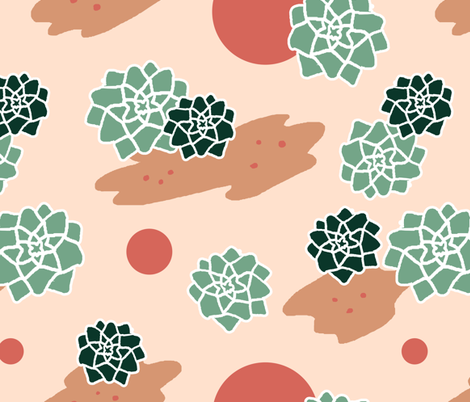 succulents fabric by eleang on Spoonflower - custom fabric