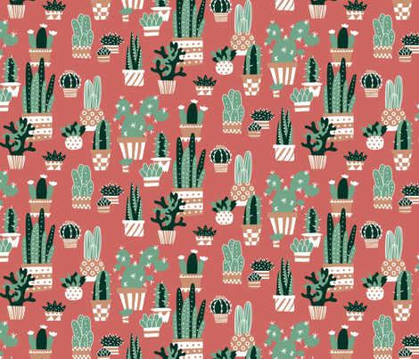 Cactus & succulents fabric by lisahilda on Spoonflower - custom fabric