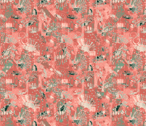 cactus_with_spoonflower_colors fabric by dora_yvonne_textiles on Spoonflower - custom fabric