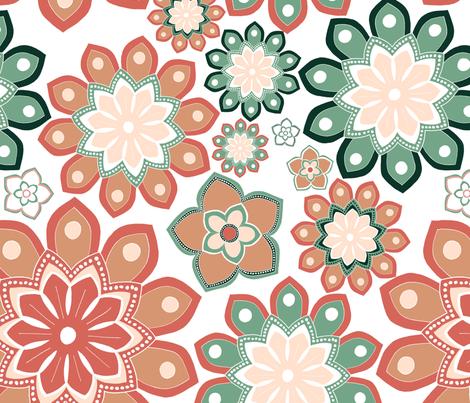 Succulents fabric by lasidi on Spoonflower - custom fabric