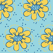 PJ Party - Primrose Yellow/blue