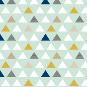 mod triangles mint gold navy