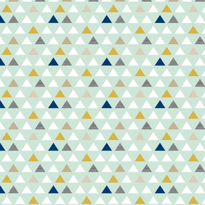 mod triangles mint gold navy half scale