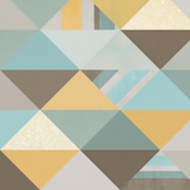 Teal, Gold, and Brown Triangles