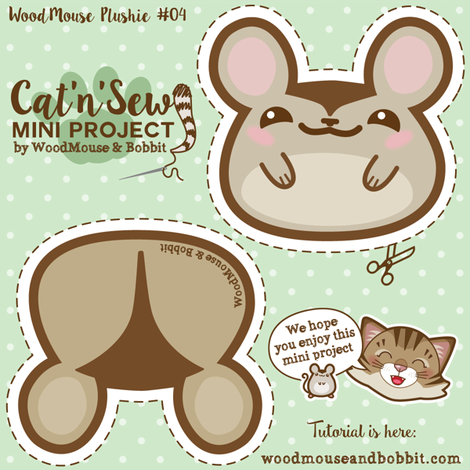 Woodmouse_Plushie_04 fabric by woodmouse&bobbit on Spoonflower - custom fabric