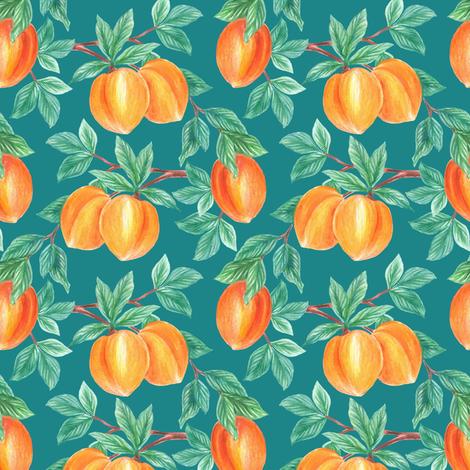 Peach fabric by dariara on Spoonflower - custom fabric