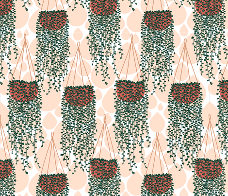 String of Pearls fabric by katielee on Spoonflower - custom fabric