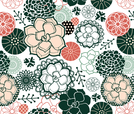 Succulents fabric by sarah_treu on Spoonflower - custom fabric