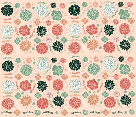 Sweetly Succulent fabric by missy_warp on Spoonflower - custom fabric