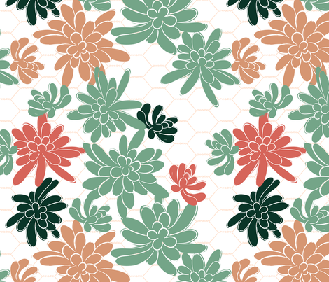 SubtleSucculents-01 fabric by dianne_annelli on Spoonflower - custom fabric