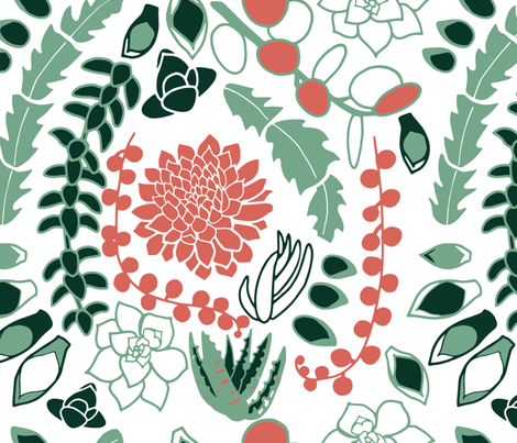 sweet succulent fabric by jackiejean on Spoonflower - custom fabric