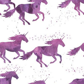 watercolor unicorns || purple