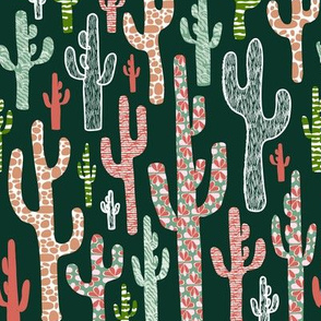 Patterned Saguaro Cactus