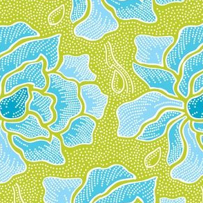 Aqua & Lime Batik