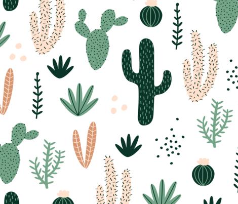 desert garden fabric by yvettebalderston on Spoonflower - custom fabric