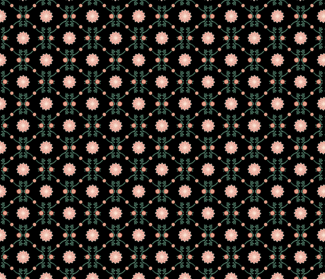 black_cactus_rose fabric by chesapeaketess on Spoonflower - custom fabric