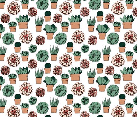 Succulents  fabric by svaeth on Spoonflower - custom fabric