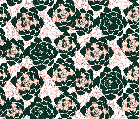 Succulents fabric by artishark on Spoonflower - custom fabric