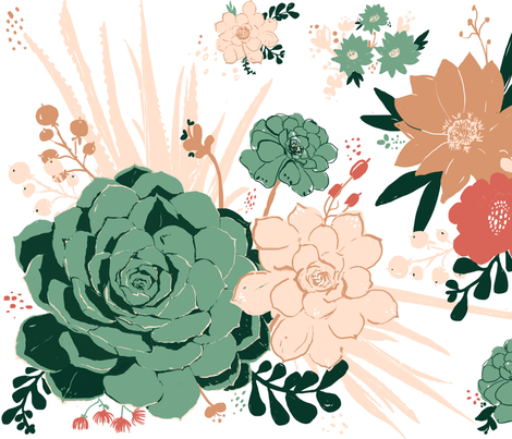 California in Bloom fabric by fable_design on Spoonflower - custom fabric