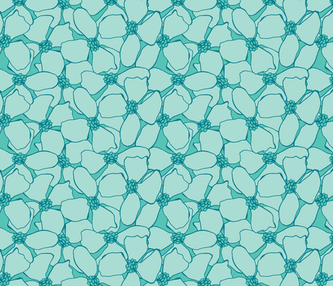 Floral Cluster fabric by jillcookdesigns on Spoonflower - custom fabric