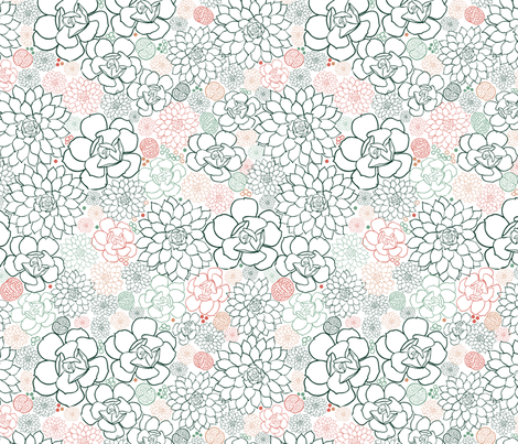 Succulent Field fabric by vinpauld on Spoonflower - custom fabric
