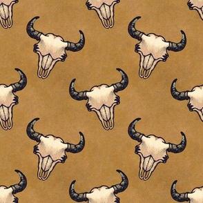 Bison Skulls With Tan