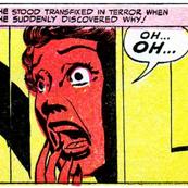 pop art comics woman lady vintage retro kitsch roy lichtenstein inspired speech bubbles shocked shocking comic strips comic books modern words