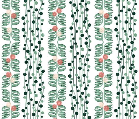 Pearls and Swine en blanc fabric by ladyrattus on Spoonflower - custom fabric