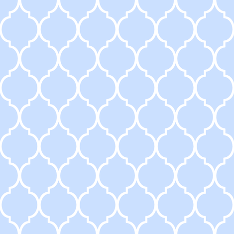 Tiny Blue Moroccan Pattern fabric by micklyn on Spoonflower - custom fabric