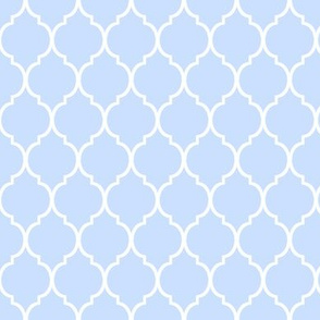 Tiny Blue Moroccan Pattern