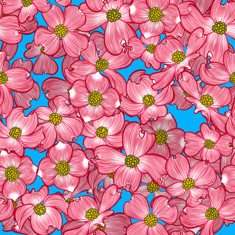 Dogwood Blooms 2 fabric by jadegordon on Spoonflower - custom fabric