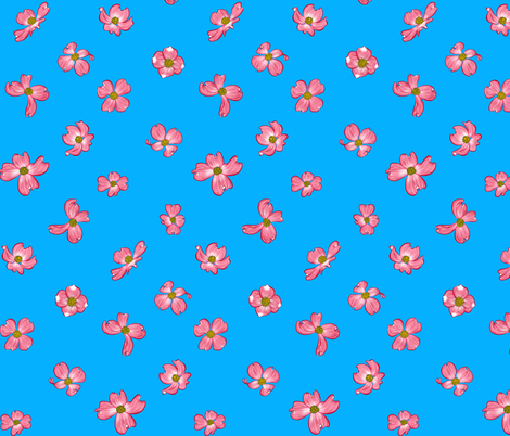 Dogwood Blooms 1 fabric by jadegordon on Spoonflower - custom fabric