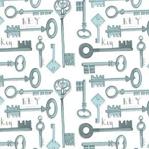 K is for Key-blue