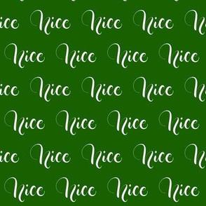 Nice - Green - Christmas