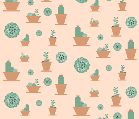 succulents fabric by arrpdesign on Spoonflower - custom fabric