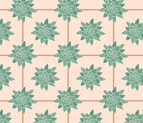 Betty_s_Succulent fabric by boutique_unique on Spoonflower - custom fabric