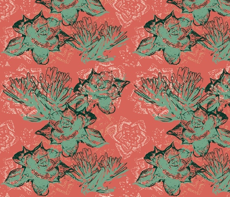 succulent limited palatte fabric by amyjeanne_wpg on Spoonflower - custom fabric