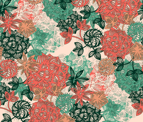 Wild Succulents fabric by gingerlique on Spoonflower - custom fabric