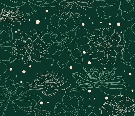 Succulents fabric by melissacolson on Spoonflower - custom fabric