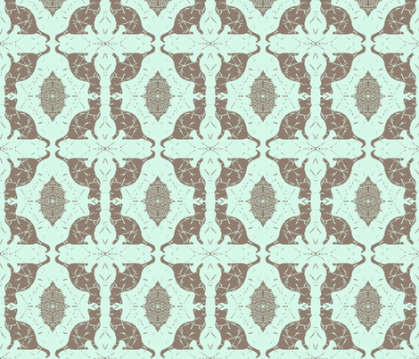 Cat Silhouette Chocolate Mint fabric by peaceofpi on Spoonflower - custom fabric