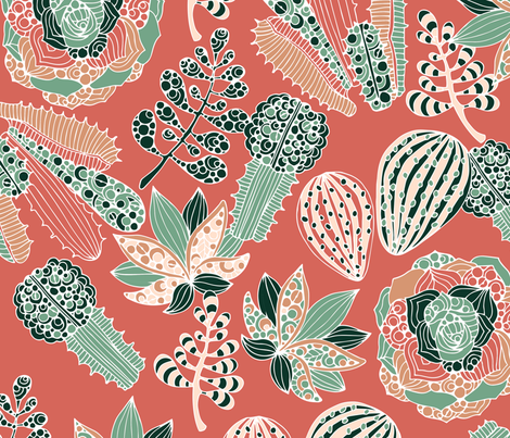 Sooo Suculent fabric by valentinaharper on Spoonflower - custom fabric