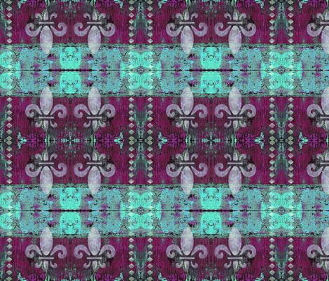 French Fleur de lis Magenta fabric by peaceofpi on Spoonflower - custom fabric
