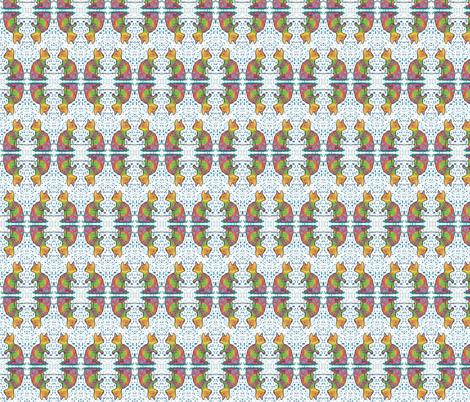 Rainbow Cat Blue Flecks fabric by peaceofpi on Spoonflower - custom fabric