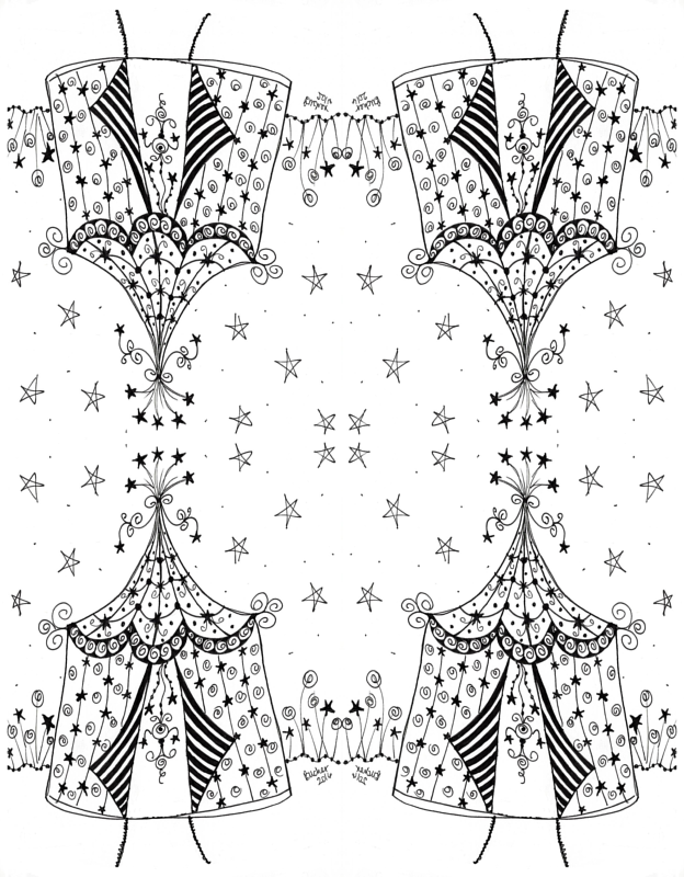 sc 1 st  Spoonflower & Circus Tent Doodle 1 wallpaper - barbuch - Spoonflower