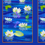 White_Water_Lilies_Oblong_Panel_M_border